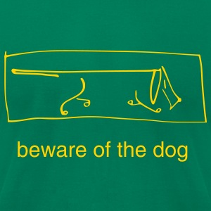 beware of the dog - Men's T-Shirt by American Apparel