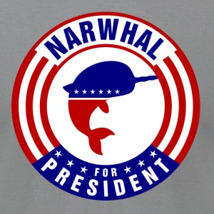 Narwhal 4 Pesident Round T-Shirts - Men's T-Shirt by American Apparel