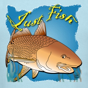 Just Fish Redfish blue - Men's T-Shirt