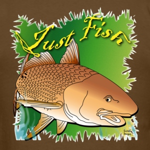 Just Fish Redfish green - Men's T-Shirt