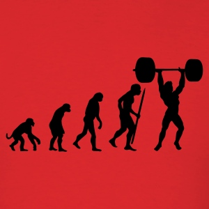 Evolution of pumping iron T-Shirts - Men's T-Shirt