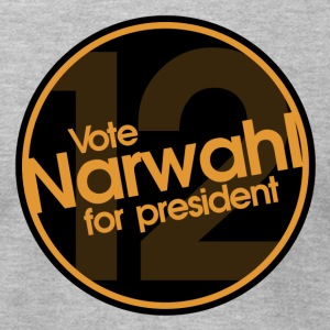 Vote Narwhal Round Orange T-Shirts - Men's T-Shirt by American Apparel