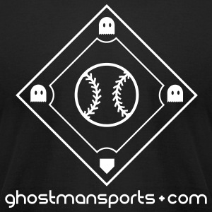 Ghostman Signature (American Apperal) - Men's T-Shirt by American Apparel