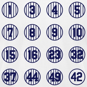 Retired Numbers (American Apperal) - Men's T-Shirt by American Apparel