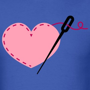 sewing heart crafty with needle T-Shirts - Men's T-Shirt