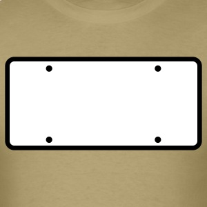 plain licence plate WRITE YOUR OWN T-Shirts - Men's T-Shirt