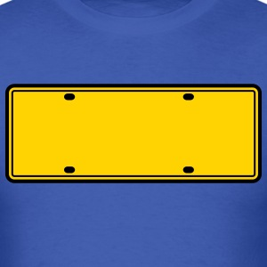 simple 2 color blank licence plate T-Shirts - Men's T-Shirt