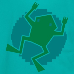 digital frog on a lilypad Zip Hoodies/Jackets - Unisex Fleece Zip Hoodie by American Apparel