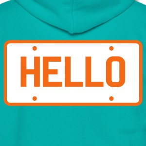 licence plate saying hello Zip Hoodies/Jackets - Unisex Fleece Zip Hoodie by American Apparel
