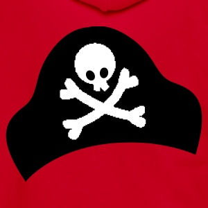 crossbones and skull on pirate hat good for Halloween Zip Hoodies/Jackets - Unisex Fleece Zip Hoodie by American Apparel