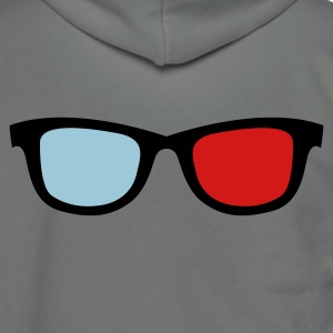 old skool nerdy 3d glasses Zip Hoodies/Jackets - Unisex Fleece Zip Hoodie by American Apparel