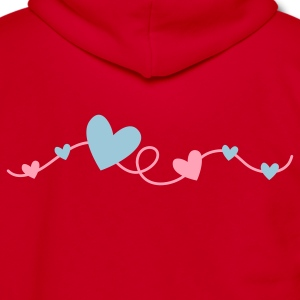 pretty hearts on a curly line Zip Hoodies/Jackets - Unisex Fleece Zip Hoodie by American Apparel