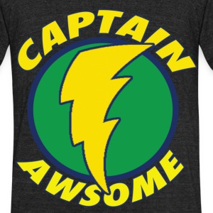 Chuck Captain Awsome 2 Med T-Shirts - Unisex Tri-Blend T-Shirt by American Apparel