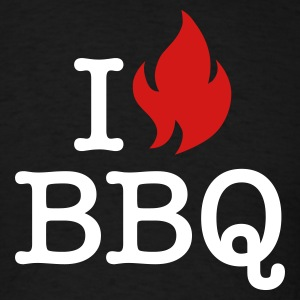 I Love BBQ T-Shirts - Men's T-Shirt