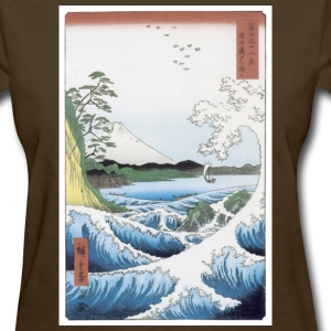 Scene of Wave and Mountain T-Shirt - Women's T-Shirt