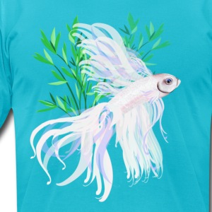 White Siamese Fighting Fish - Men's T-Shirt by American Apparel