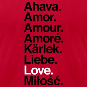 Love. Language. - Men's T-Shirt by American Apparel