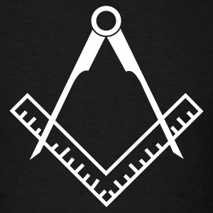 Freemason Compass v2 - Men's T-Shirt
