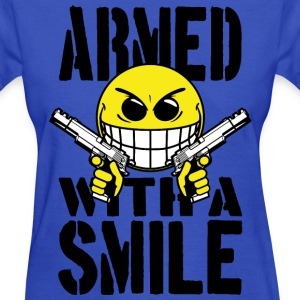 Armed with a smile Women's T-Shirts - Women's T-Shirt