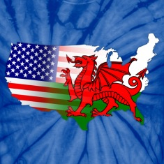 Welsh American Flag T-Shirts
