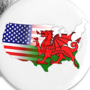 Welsh American Flag Buttons - Small Buttons