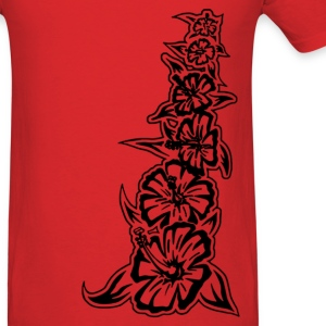 flower tower black T-Shirts - Men's T-Shirt