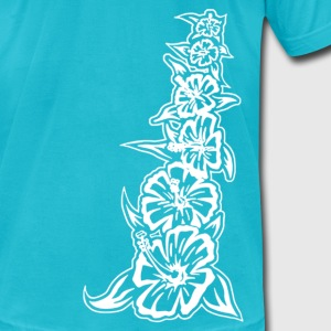 flower_tower_white T-Shirts - Men's T-Shirt by American Apparel