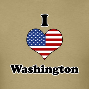 I love Washington T-Shirts - Men's T-Shirt