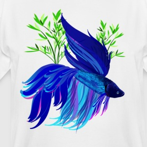 Big Blue Siamese Fighting Fish - Men's Tall T-Shirt