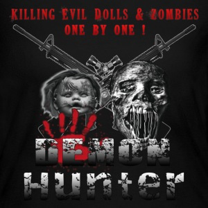 Demon Hunter Killing Evil Dolls & Zombies one by one Long Sleeve Shirts - Women's Long Sleeve Jersey T-Shirt