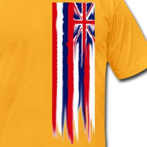 melting_flag T-Shirts - Men's T-Shirt by American Apparel