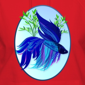 Big Blue Siamese Fighting Fish - Women's Hoodie