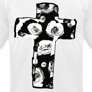 Design ~ Mens New Religion Rose Cross Street Style T-Shirt