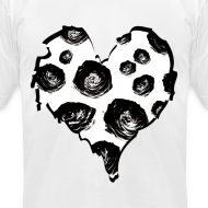 Design ~ Mens Rose Heart Street Style Fashion T-Shirt
