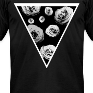 Design ~ Mens Rose Triangle Street Style T-Shirt