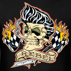 Rockabilly Rebel Skull - Men's T-Shirt