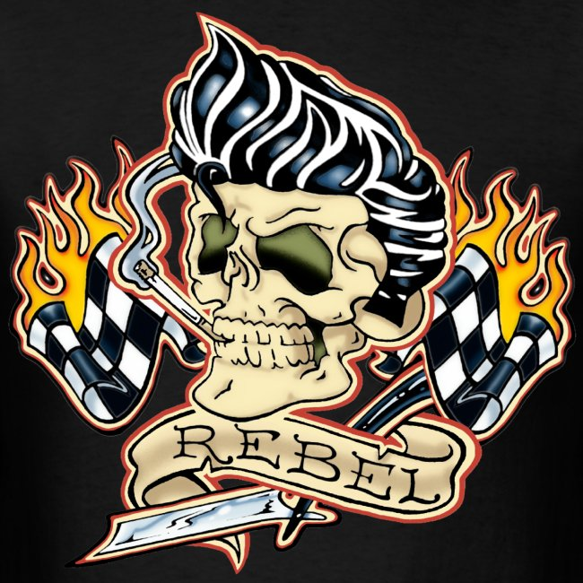 Rockabilly Rebel Skull