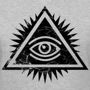 Eye of Providence logo by Ctrl+Z Clothing Women's T-Shirts - Women's V-Neck T-Shirt