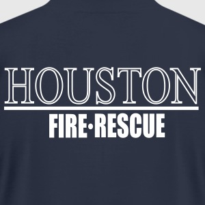 Houston Fire Rescue Back - Men's T-Shirt by American Apparel