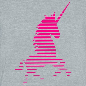 unicorn_sunset T-Shirts - Unisex Tri-Blend T-Shirt by American Apparel
