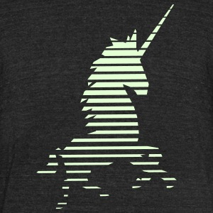 Glow in the Dark Unicorn T-Shirt - Unisex Tri-Blend T-Shirt by American Apparel