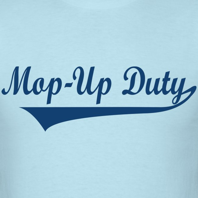 Mop-Up Duty Text Logo (Blue)