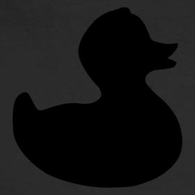 Design ~ duckie - fuzzy black on black