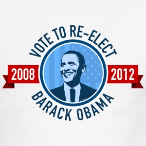 Vote to Re-elect Barack Obama - Men's Ringer T-Shirt