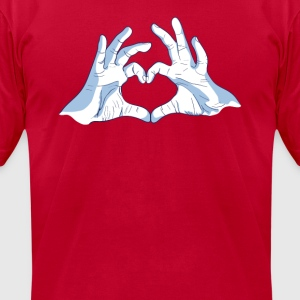 Bale Heart T-Shirts - Men's T-Shirt by American Apparel