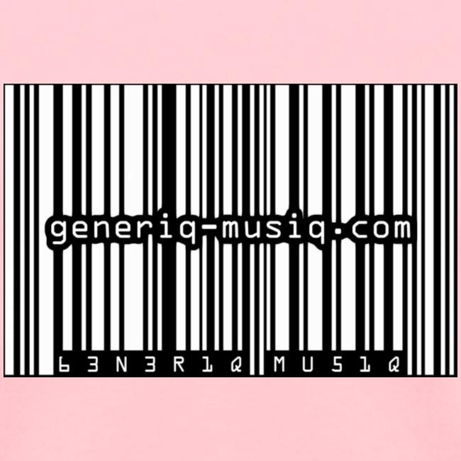 generiq-musiq b/w barcode womens