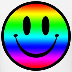 Rainbow Smiley T-Shirts - Men's T-Shirt