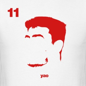 Yao Portrait with Name & Number - Men's T-Shirt