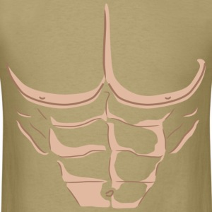 Fake Abs - Light T-shirt - Men's T-Shirt
