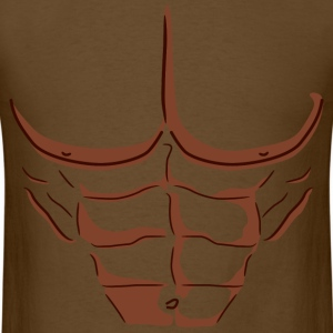 Fake Abs - Dark T-shirt - Men's T-Shirt